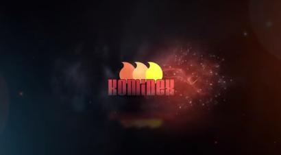 Logo Kominex – efekt ognia